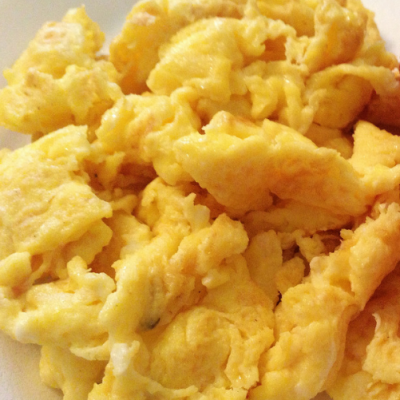 Easy Keto low carb Cream Cheese Scramble Egg Recipe
