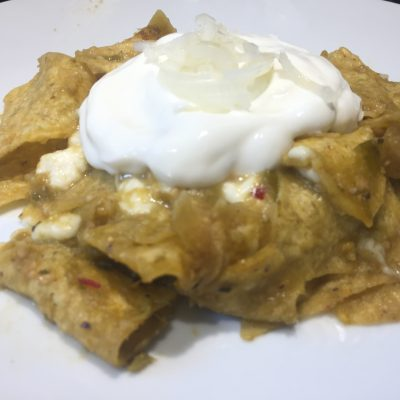 Quick Easy Zesty Mexican Chilaquiles Recipe made with Tortilla Chips