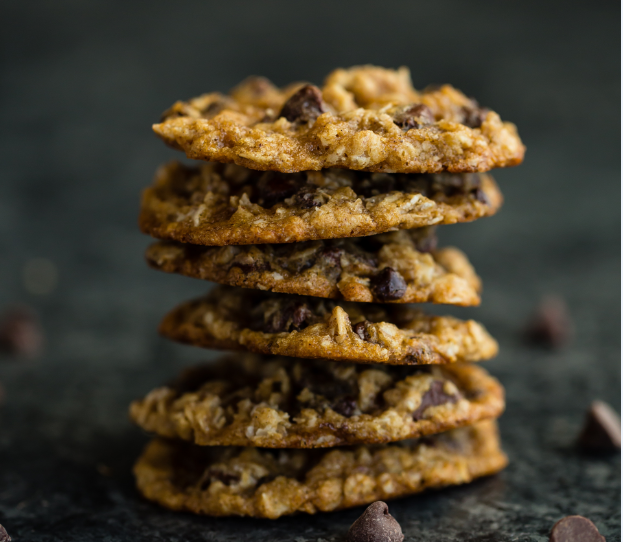 Easy Quick 3 Ingredient Oatmeal Chocolate Chip Cookie Recipe (Gluten Free)