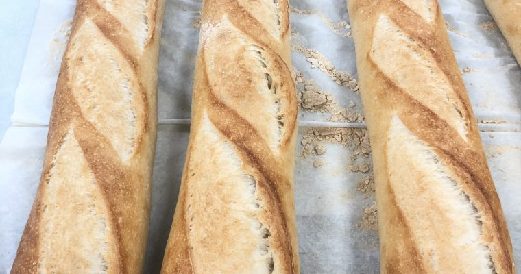 Classic Homemade Crispy  French Baguette Recipe
