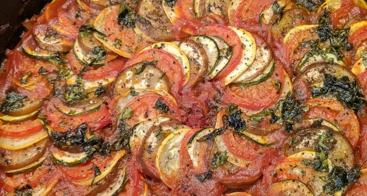 Baked Vegan Ratatouille Recipe With Vegetables