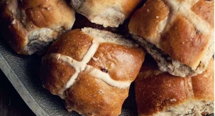 hot cross buns no yeast