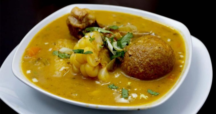 Ecuadorian Caldo De Bolas De Verde Sopa Recipe (Green Plaintain Ball Beef Soup)