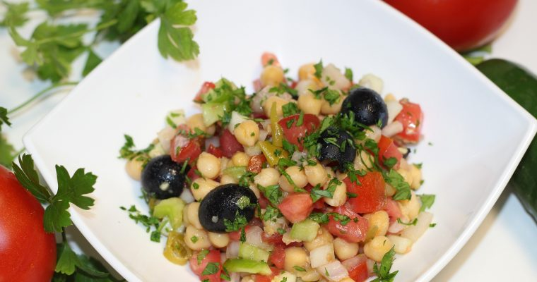 chickpea salad with avocado dressing recipe