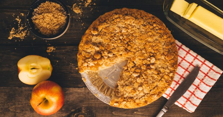 Dutch Apple Crumble Pie Recipe With Oats