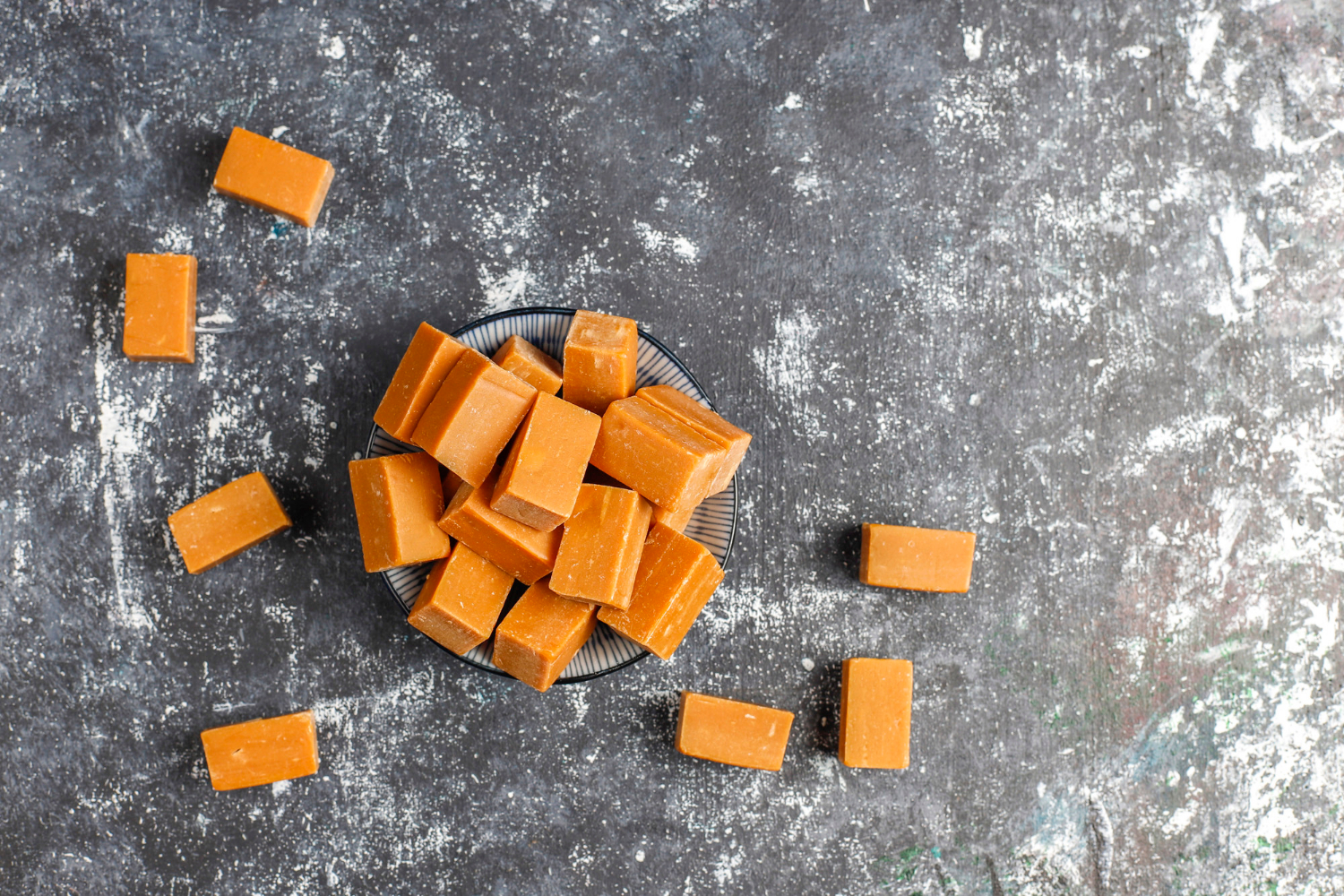 Homemade Soft Chewy Caramel Recipe Without Condensed Milk (Super Stretchy)